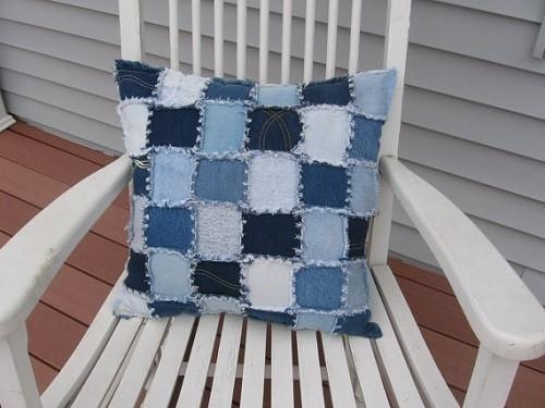 Gối vải thô kết hợp với các loại vải khác