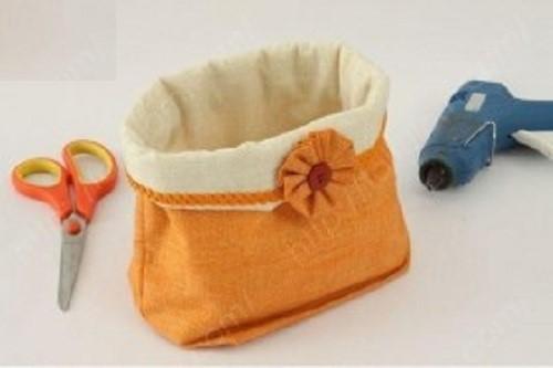 Chiếc túi đựng đồ tiện dụng bằng vải linen